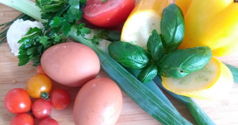 Zucchini-Omlett – ein low-fodmap Abendessen